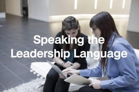 Speaking the Leadership Language